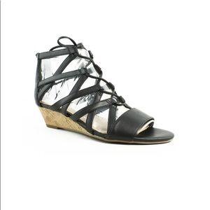 NIB Franco Sarto black gladiator sandals. Size 6